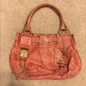 Juicy Couture Hot Pink Leather Hobo Purse